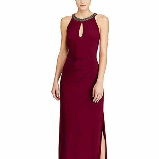 Item - Red Keyhole Gown Long Casual Maxi Dress Size 4 (S)