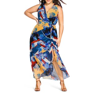 Multicolor Maxi Dress by City Chic Sleeveless Print