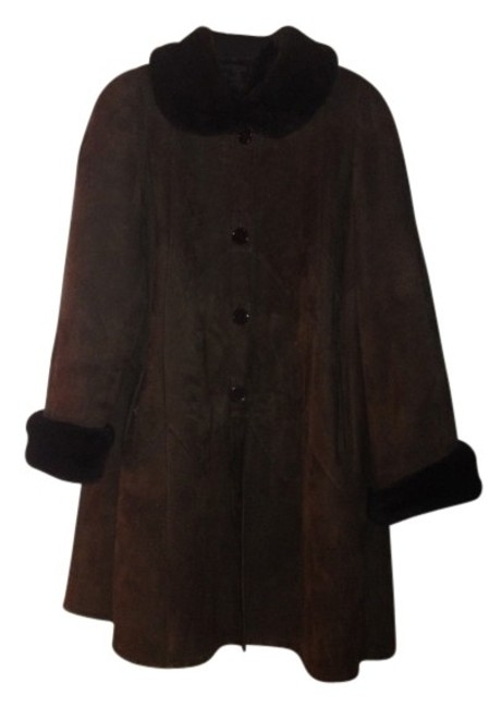 Saks Fifth Avenue Shearling Rich Chocolate Like New Fur Coat