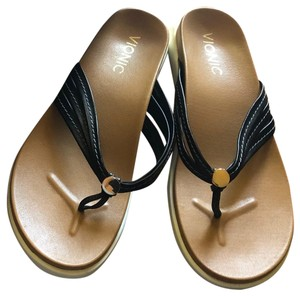 Vionic Black and Gold Sandals