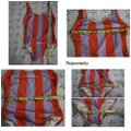 Anthropologie Red & Lavender Solid Striped Anne Marie Swimsuit One-piece Bathing Suit Size 0 (XS) Anthropologie Red & Lavender Solid Striped Anne Marie Swimsuit One-piece Bathing Suit Size 0 (XS) Image 7
