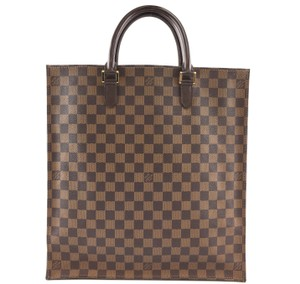 Louis Vuitton Sac Plat Canvas Damier Tote in brown
