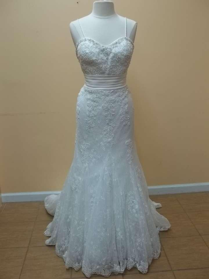 Alfred Angelo Ivory Lace Over Satin 8520 Formal Wedding Dress Size ...