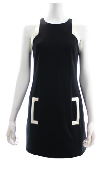 Item - Black White Midi Small New with Tags Mid-length Short Casual Dress Size 4 (S)