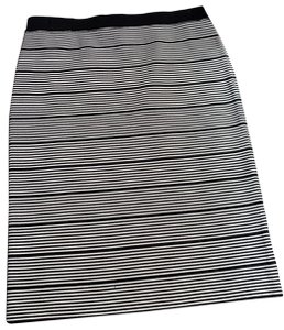 Romeo & Juliet Couture Skirt black and white striped