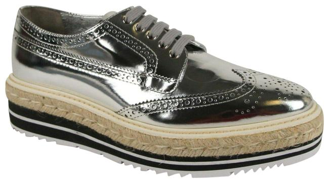 Item - Silver Women's Metallic Leather Oxford Sneaker 41/Us 1e722 Platforms Size US 11 Regular (M, B)