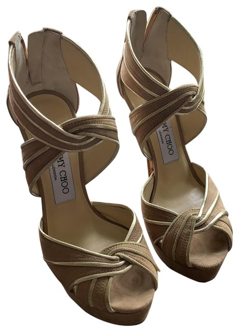 Item - Beige Koko Piped Sandal Platforms Size EU 35 (Approx. US 5) Narrow (Aa, N)