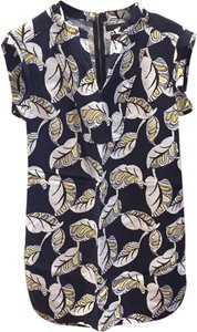 Jcrew short dress Navy, White, yellow on Tradesy