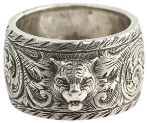 Gucci Gucci Feline Sterling Silver Ring Size 9.5