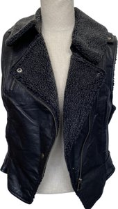 Charlotte Ronson Motorcycle Leather Lined Vest