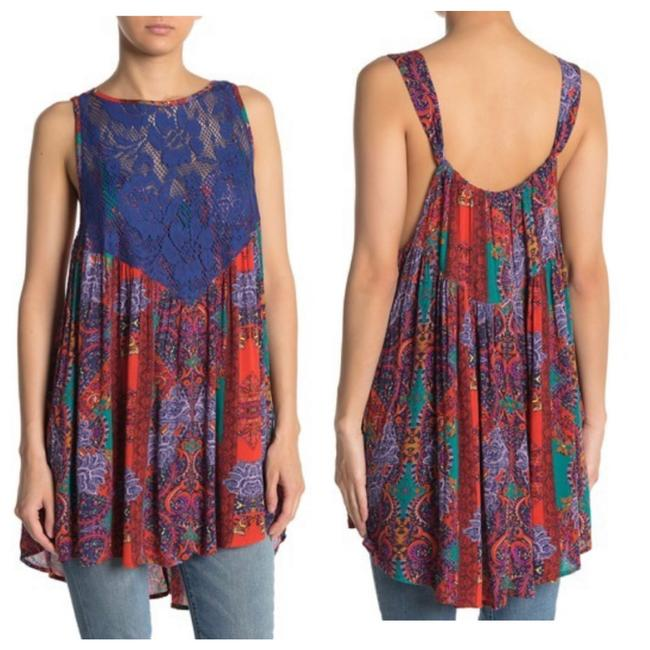Item - Floral Count Me In Trapeze Mini Mid-length Short Casual Dress Size 6 (S)