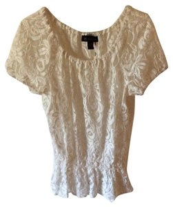 INC International Concepts Lace Romantic Soft Top Cream