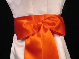 Pumpkin Orange Ribbon Sash