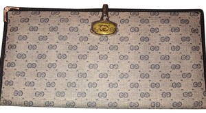 Gucci Grey and Navy Blue Flat Wallet