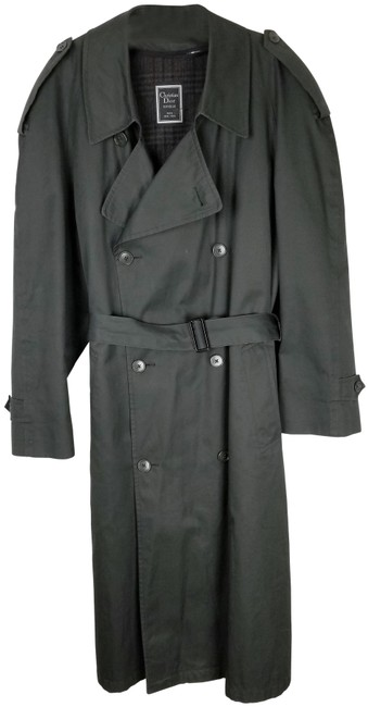 Item - Gray Vintage Christian 1970s Mens Double Breasted Coat Size 14 (L)