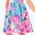 Lilly Pulitzer Pink White Kinley Beckon Blue Jungle New Short Cocktail Dress Size 0 (XS) Lilly Pulitzer Pink White Kinley Beckon Blue Jungle New Short Cocktail Dress Size 0 (XS) Image 3