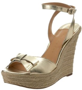 Ivanka Trump Wedge Heels Gold Wedges