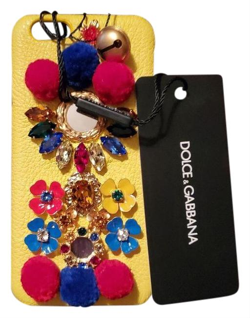 Dolce&Gabbana Yellow Leather New Dolce & Gabbana Iphone 8 ; 7; 6 and 6s Case Tech Accessory Dolce&Gabbana Yellow Leather New Dolce & Gabbana Iphone 8 ; 7; 6 and 6s Case Tech Accessory Image 1