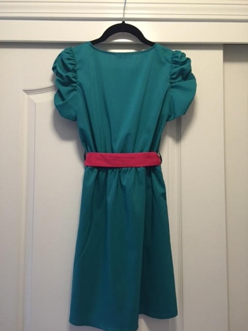Xtaren short dress Teal Green / Pink on Tradesy