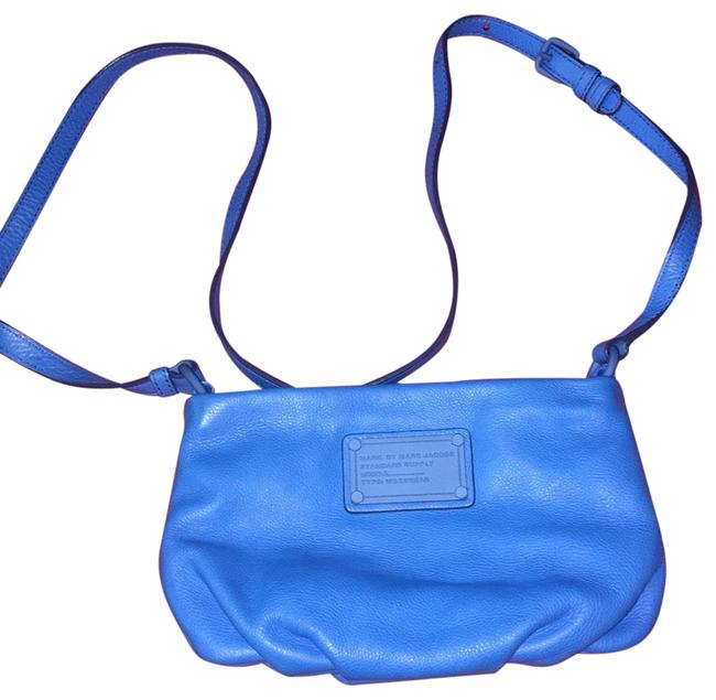 Item - Blue Leather Cross Body Bag