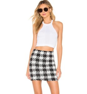 Solid & Striped Revolve Gingham Mini Skirt