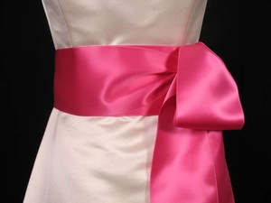 Hot Pink Ribbon Sash