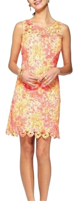 Lilly Pulitzer Pink Yellow Shiloh Resort White Sunkissed Woman New Short Cocktail Dress Size 0 (XS) Lilly Pulitzer Pink Yellow Shiloh Resort White Sunkissed Woman New Short Cocktail Dress Size 0 (XS) Image 1