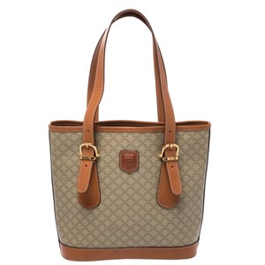 Céline Canvas Leather Nylon Tote in Brown