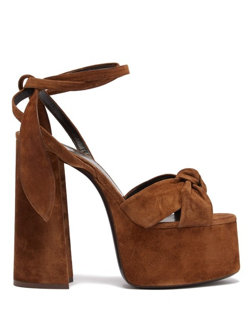 Item - Tan Mf Bianca Suede Platform Sandals Size EU 37.5 (Approx. US 7.5) Regular (M, B)