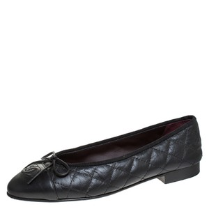 Chanel Quilted Leather Ballet Black Flats