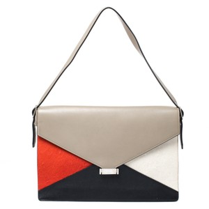 Céline Front Flap Leather Shoulder Bag