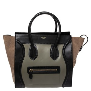 Céline Leather Suede Tote in Multicolor