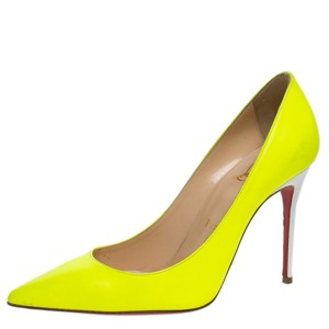 Christian Louboutin Leather Green Pumps