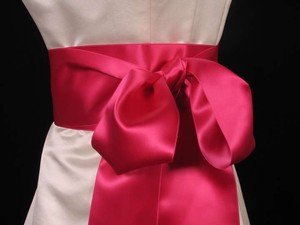 Fuschia Pink Ribbon Sash 4