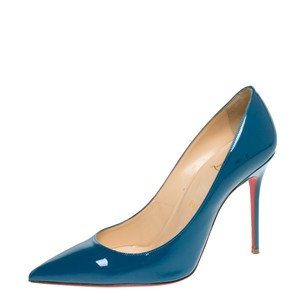 Christian Louboutin Patent Leather Leather Blue Pumps