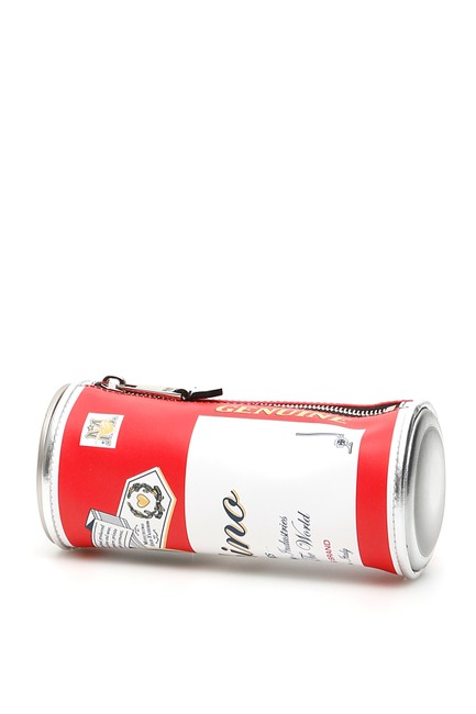 Moschino Budweiser Pouch Multicolored Tote Moschino Budweiser Pouch Multicolored Tote Image 1