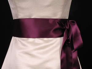 Plum Purple Ribbon Sash
