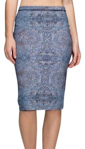 Lululemon Trendy Chic Casual Career Pencil Skirt Black Blue