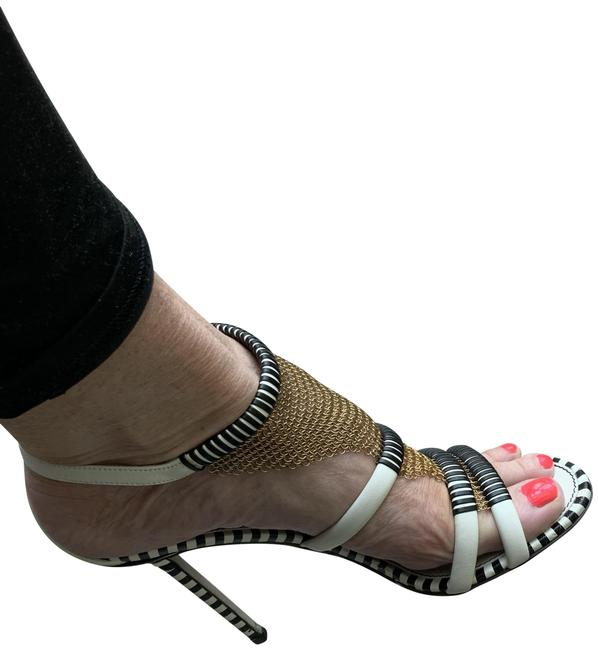 Item - Black and White Strappy Sandals Size EU 40 (Approx. US 10) Regular (M, B)