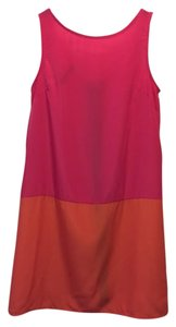 Euphoria Ln. short dress Colorblock Pink / Orange on Tradesy