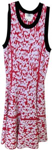 Kate Spade short dress Red & White Knit Floral Sleeveless Summer Preppy on Tradesy