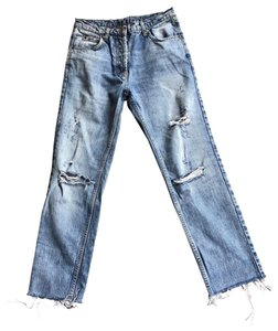 Sandro Boyfriend Cut Jeans-Distressed