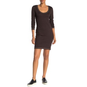 Alternative Apparel short dress Brown Monochrome Longsleeve Cotton on Tradesy