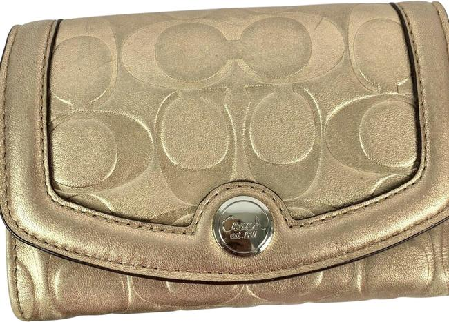 Coach Gold Engraved*** Wallet Coach Gold Engraved*** Wallet Image 1