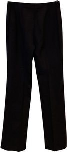 Céline Polished Wool Straight Trouser Pants Brown