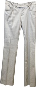 Gucci Belted Gold Hardware Pockets Straight Pants Tan