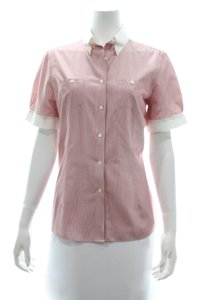 brooks Button Down Shirt Red & White