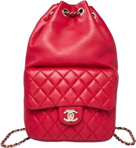 Chanel Gold Hardware Silver Hardware Quilted Interlocking Cc Boy Backpack