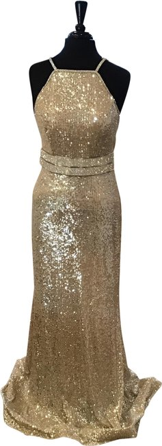 Item - Silver 4222 Long Formal Dress Size 10 (M)