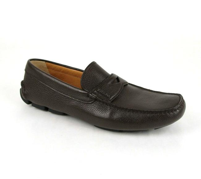 Item - Brown W Leather Loafer Driver W/Logo Uk 10.5/Us 11.5 2dd001 Shoes